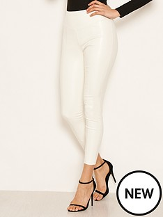 ax-paris-ax-paris-ecru-highwaised-faux-leather-leggings