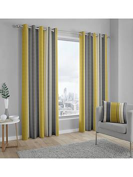 Fusion Fusion Whitworth Lined Eyelet Curtains Picture