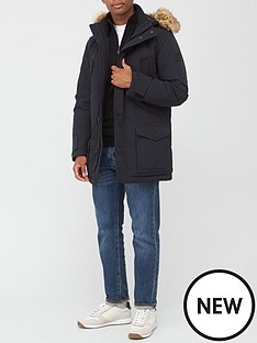 boss-opole-parka-with-faux-fur-hood-black