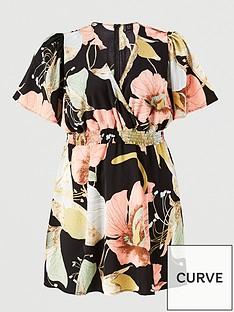 ax-paris-curve-floral-printed-elasticated-batwing-dress-navy