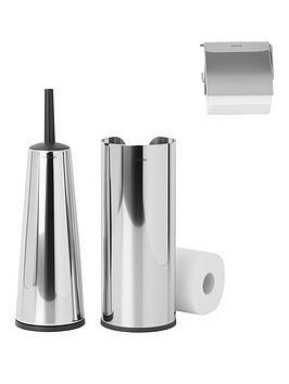 Brabantia Brabantia 3 Piece Toilet Accessory Set - Brilliant Steel Picture