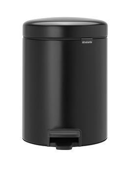 brabantia-matt-black-recycle-bathroom-pedal-bin
