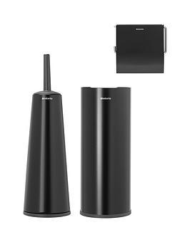 brabantia-3-piece-toilet-accessory-set-mattnbspblack
