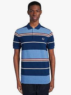 fred-perry-stripe-polo-shirt-blue
