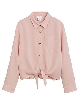 mango-girls-tie-waist-shirt-pink