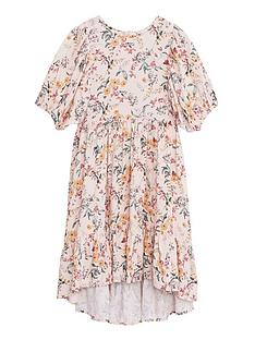 mango-girls-woven-floral-smock-dress-pink