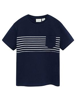 mango-boys-striped-pocket-tshirt-navy