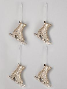 gisela-graham-set-of-4-ski-boot-christmas-tree-decorations