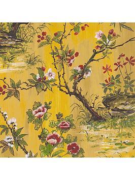 Woodchip & Magnolia Woodchip & Magnolia Rivington Yellow Wallpaper Picture
