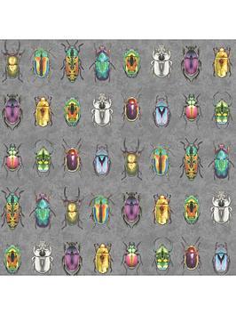 Woodchip & Magnolia Woodchip & Magnolia Beetle Jewels Multi Wallpaper Picture