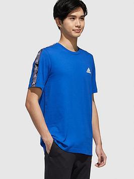 adidas-essential-tape-t-shirt-bluenbsp