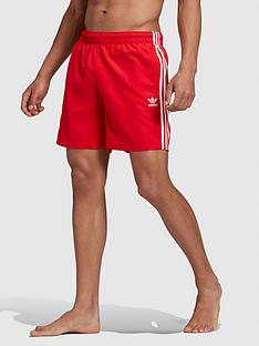 adidas-originals-3-stripe-swim-short-red
