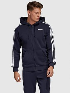adidas-plus-size-essential-3-stripe-full-zip-hoodie-navy