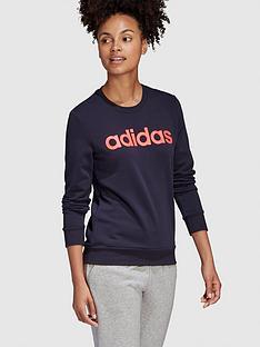 adidas-essentials-linear-crew-sweatshirt-navynbsp