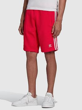 adidas-originals-3-stripe-shorts-red