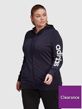 adidas-adidas-essentials-linear-full-zip-hoodie-plus-size