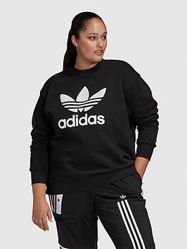 adidas-originals-plusnbsptrefoil-crew-sweat-black