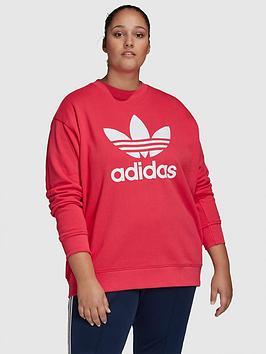 adidas-originals-adidas-originals-trefoil-crew-sweat-plus-size