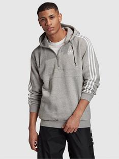 adidas-originals-3-stripes-half-zip-hoodie-medium-grey-heathernbsp
