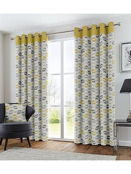 Fusion Fusion Copeland Lined Eyelet Curtains Picture