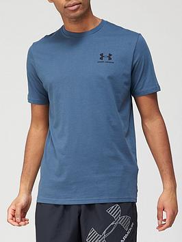 under-armour-sportstyle-left-chest-logo-t-shirt-blueblack