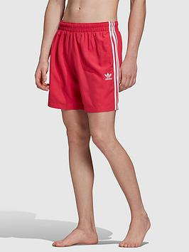 adidas-originals-3-stripe-swim-shorts-red