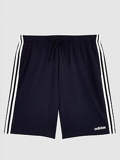 adidas-plus-size-essential-3-stripe-shorts-navy