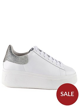 ash-moby-leathernbspglitter-trainers-white