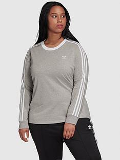 adidas-originals-3-stripe-long-sleeve-t-shirt-curve-greynbsp