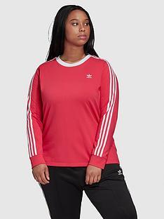 adidas-originals-3-stripe-long-sleeve-t-shirt-curve-pinknbsp