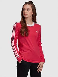 adidas-originals-3-stripe-long-sleeve-t-shirt-pinknbsp