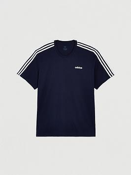 adidas-plus-size-essential-3-stripe-t-shirt-navy