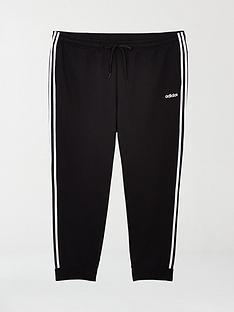 adidas-plus-size-essential-3-stripe-track-pants-black