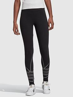 adidas-originals-large-logo-tights-black