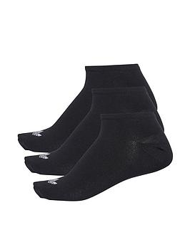 adidas Originals  Adidas Originals Trefoil Liner Socks (3 Pack)  - Black
