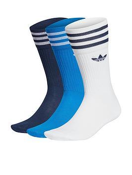 adidas-originals-3-pack-of-solid-crew-sock-multi