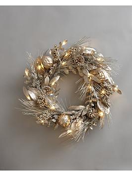 pre-lit-champagne-wreath