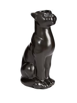 ceramic-panther-decorative-ornamenttea-light-candle-holder--nbspblack