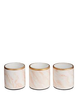 michelle-keegan-home-set-of-3-marble-effect-planters-with-gold-edging