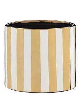 metallic-stripe-planter