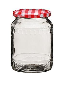 Premier Housewares Premier Housewares Red Gingham Jar Picture