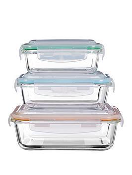 Premier Housewares Premier Housewares Freska Glass Containers &Ndash; Set  ... Picture