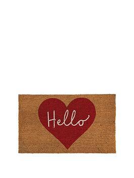 Very Hello Heart Coir Doormat Picture
