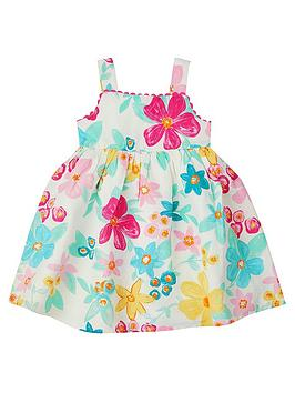 Monsoon Monsoon Baby Girls S.E.W Tanna Linen Mix Dress - Ivory Picture