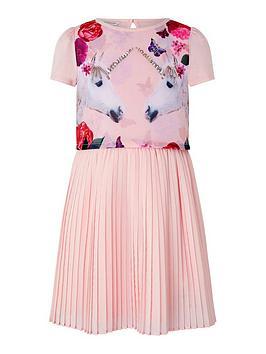 Monsoon Monsoon Girls Mystique Unicorn 2In1 Dress - Pink Picture
