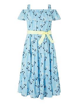 Monsoon Monsoon Girls S.E.W Chloe Floral Maxi Dress - Blue Picture