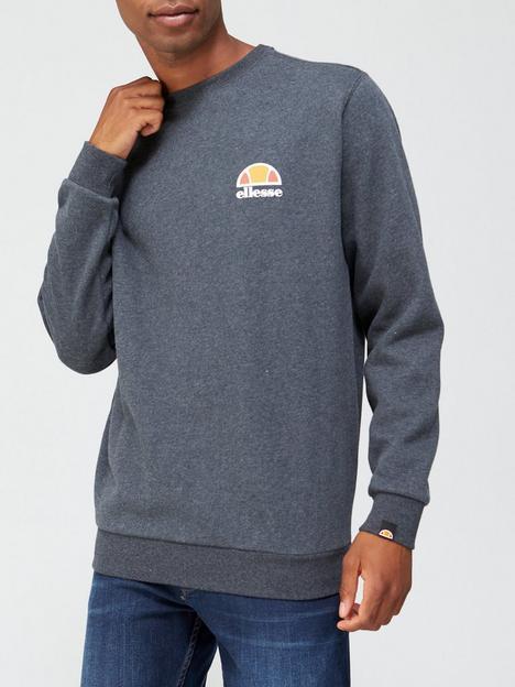 ellesse-diveria-sweatshirt-dark-grey-marl