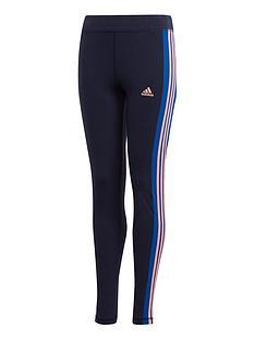 adidas-girls-linear-3-stripes-tight-navy