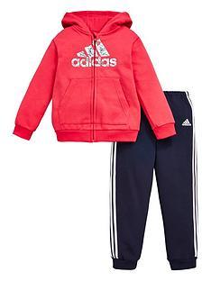 adidas-infants-logo-full-zipnbspfleece-hoodie-and-joggers-set-pink