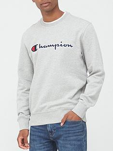 champion-crew-neck-sweatshirt-grey-marl